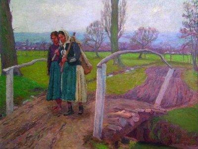 Cigányasszonyok a hídon 1911