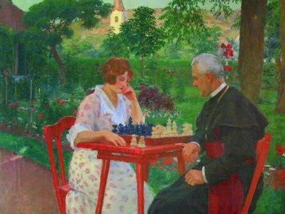 Sakkozók a kertemben 1911