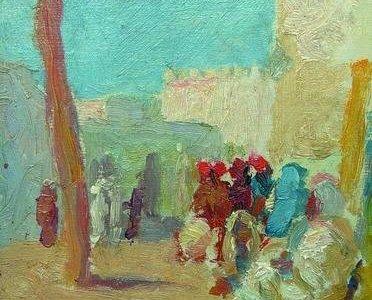 Tunisi kávéház előtt 1913