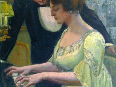 Zongorázó nő 1906